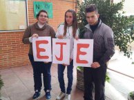 Mª José, Ana Isabel y Hernán, tres de los alumnos participantes en el proyecto