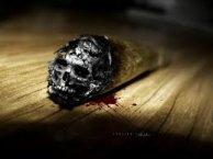 El humo de un cigarrillo se lleva parte de tu vida