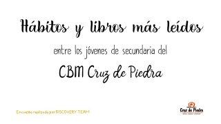 Diapositivas sobre el artículo de investigación de hábitos y libros de lectura en los alumnos del CBM Cruz de Piedra