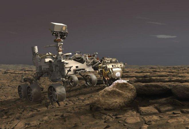 Robot 'Perseverance' sobre la superficie de Marte