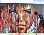 Mural creado por Carlos Callizo en Murcia en la Plaza de la Academia general del Aire (FREMM).