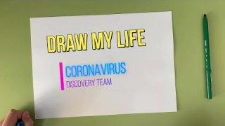 """Técnica """"Draw my life"""" para explicar la historia del coronavirus y su vacuna."""